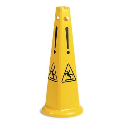 Знак пластиковый пирамидальный TTS «Осторожно мокрый пол»