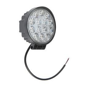LED headlight OFF ROAD 115 mm, round, 12V / 24V, 42W, 6000K, Skyway, 14 diodes, high beam