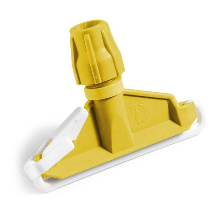 Флаундер TTS Mop clamp с полипропиленовой защёлкой, 17,5х14 см, цвет жёлтый