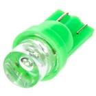 Лампа светодиодная T10(W5W) 24V 1 диод без цоколя Конус Зелёная Skyway
