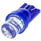 Лампа светодиодная T10(W5W) 24V 1 диод без цоколя Конус синяя Skyway
