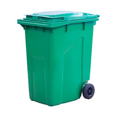Мусорный контейнер на 2-x колесах с крышкой 360 л зеленый