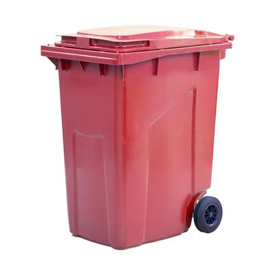 Мусорный контейнер на 2-x колесах с крышкой 360 л красный