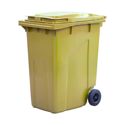 Мусорный контейнер на 2-x колесах с крышкой 360 л желтый