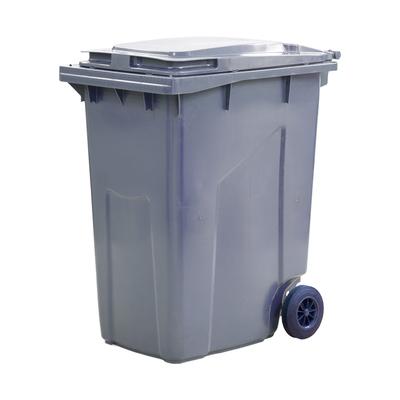 Мусорный контейнер на 2-x колесах с крышкой 360 л серый