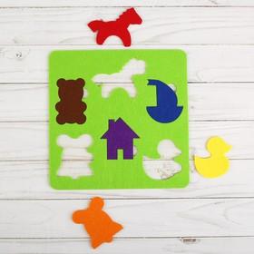Логическая головоломка «Мои игрушки» из фетра