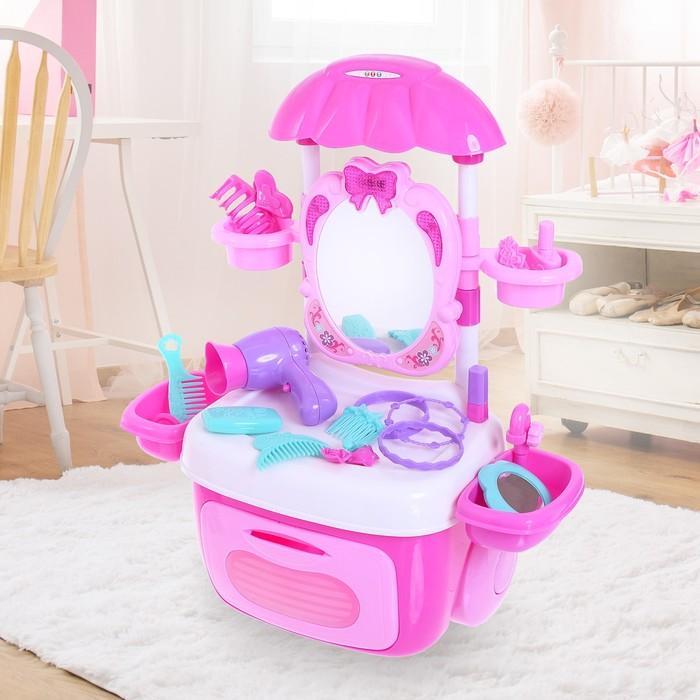 Игровой набор «Столик для маленький модницы» с аксессуарами, световые и звуковые эффекты