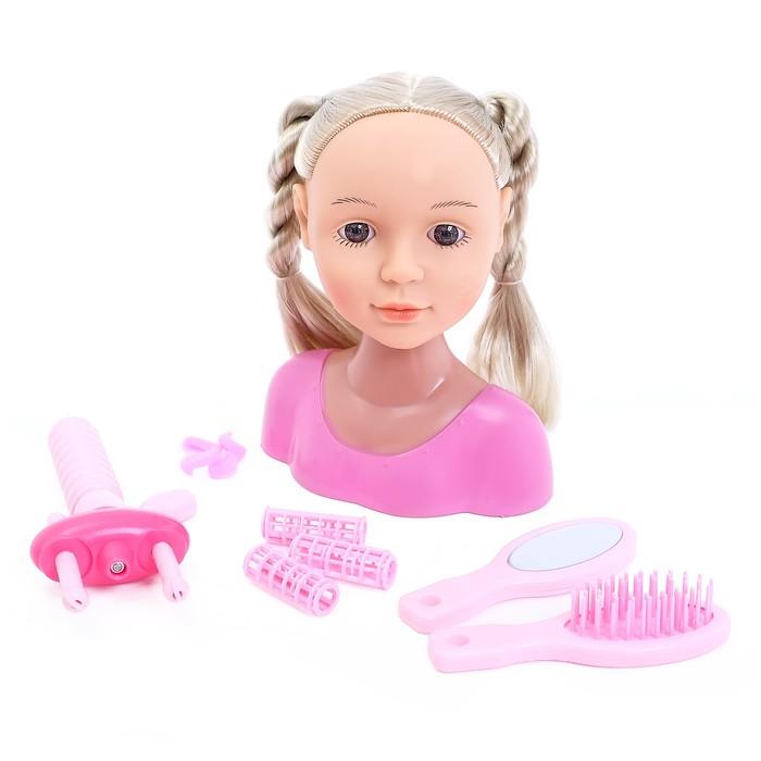 Кукла-манекен для создания причёсок «Нана» с аксессуарами