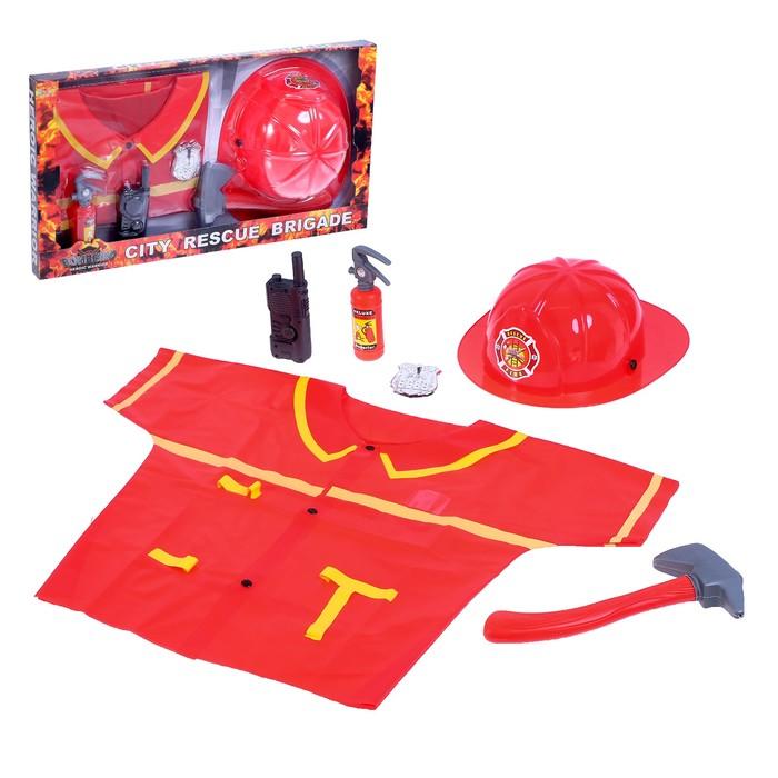 Набор пожарного «Бригада спасателей», 6 предметов