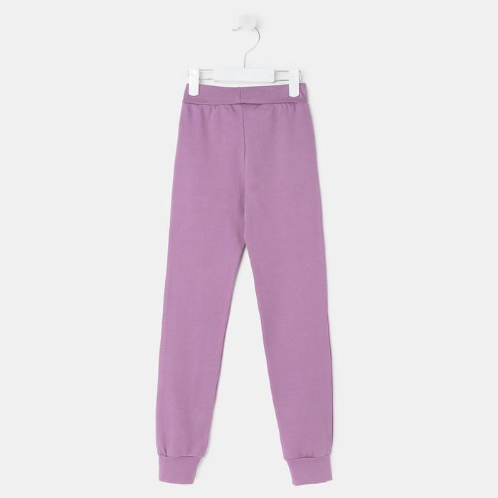 Брюки для девочки (термо), цвет фиолетовый, рост 128-134 см