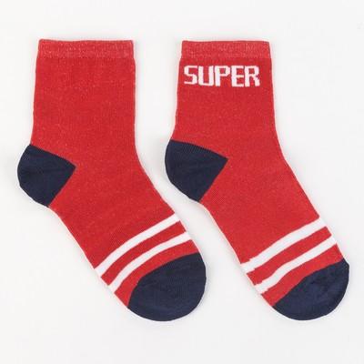 """Носки детские, """"Super"""" цвет красный, р-р 18-20"""