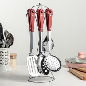 Набор кухонных принадлежностей «Древо», 6 предметов, на подставке