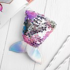 """Purse """"mermaid Tail"""" mother of pearl paillettes-silver"""