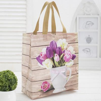 Bag shopping, Department zip, beige
