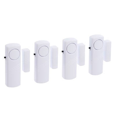 Set to alarm on opening door, 4 units, mod VM-8, (2 AAA not included) white
