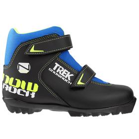 Ski boots TREK Snowrock NNN 2 straps, black, logo lime neon, size 35.