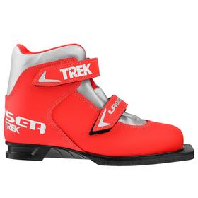 Ski boots TREK Laser NN75 IR, color red, logo silver, size 35.