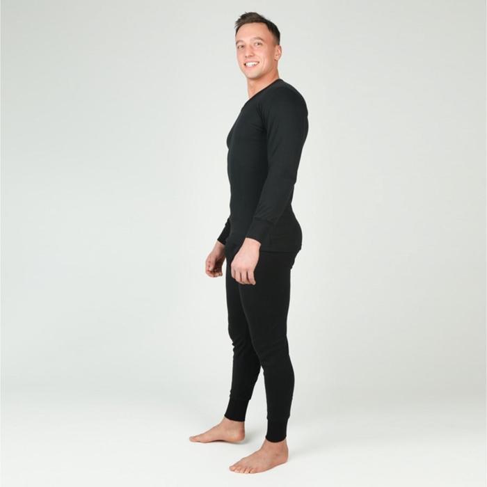 Комплект мужской (джемпер, брюки), цвет чёрный р-р 50 рост 182-188 см