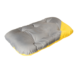 Матрас для собак двухсторонний, 134 х 70 см, серо-желтый