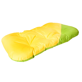 Матрас для собак двухсторонний, 94 х 60 см, желто-зеленый