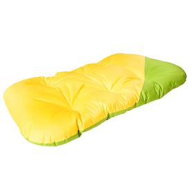 Матрас для собак двухсторонний, 134 х 70 см, желто-зеленый