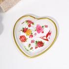Dish figure of 16.5×16.5 cm Heart pattern MIX