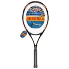 Ракетка для большого тенниса BOSHIKA 100 тренировочная, алюминиевая, 352 г, в чехле, цвет оранжевый