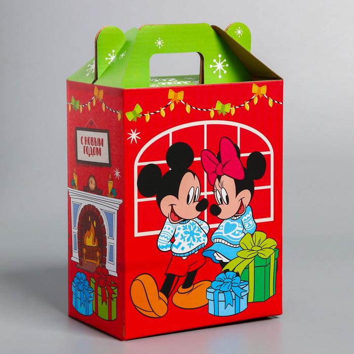 """Коробка складная """"С Новым годом"""", Микки Маус и друзья,16 х 21 х 10 см"""