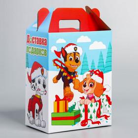 """Коробка складная """"Доставка подарков"""", PAW Patrol, 16 х 21 х 10 см"""