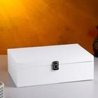 Подарочный ящик, белая кисть, 34×21,5×10,5 см