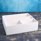Ящик- комодик большой, белая кисть, 34,5×30×10 см