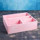 Ящик- комодик большой, розовая кисть, 34,5×30×10 см