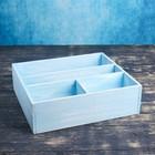 Ящик- комодик большой, голубая кисть, 34,5×30×10 см