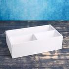 Ящик- комодик, белая кисть, 34,5×20,5×10 см