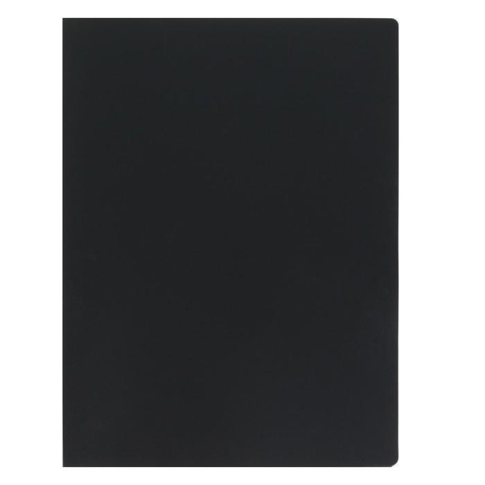 """Папка с зажимом А4, 15 мм, 450 мкм FLEXI, чёрная, текстура """"песок"""", вмещает не менее 120 листов"""
