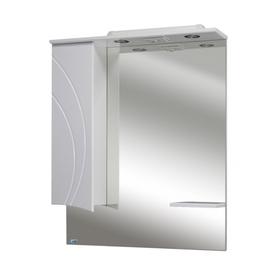 Шкаф-зеркало Лимани 75 с подсветкой левое, белый