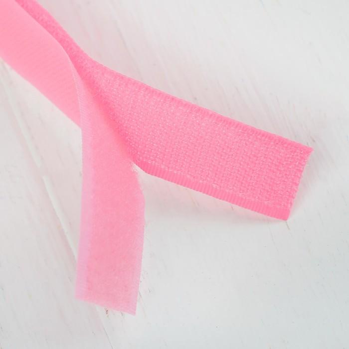 Липучка-лента, длина: 2 метра, ширина: 2,5 см, цвет розовый