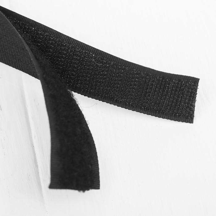 Липучка-лента, длина: 2 метра, ширина: 2,5 см, цвет чёрный