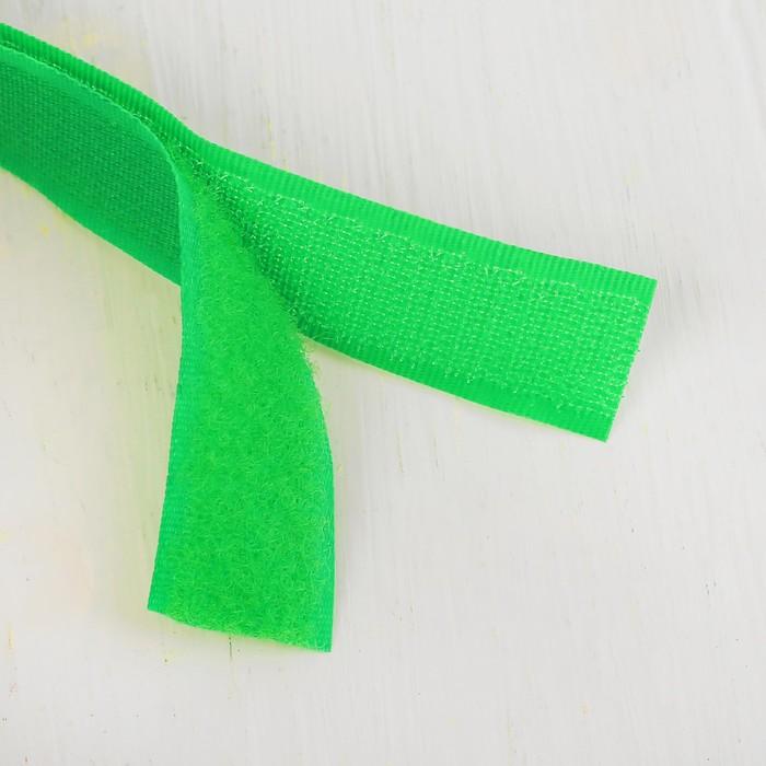 Липучка-лента, длина: 2 метра, ширина: 2,5 см, цвет зелёный