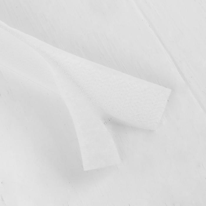 Липучка-лента, длина: 2 метра, ширина: 2,5 см, цвет белый