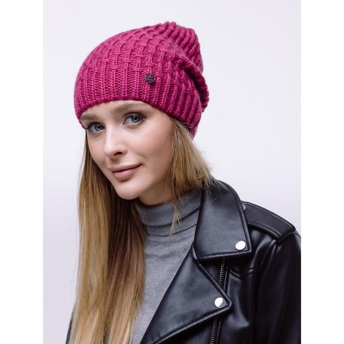 Шапка женская РУМОЛ, цвет розовый меланж, р-р 56-58