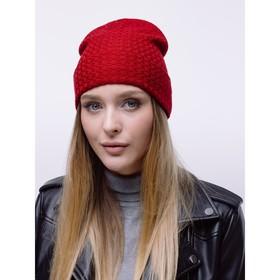 Women's hat MOBI, burgundy, solution 56-58