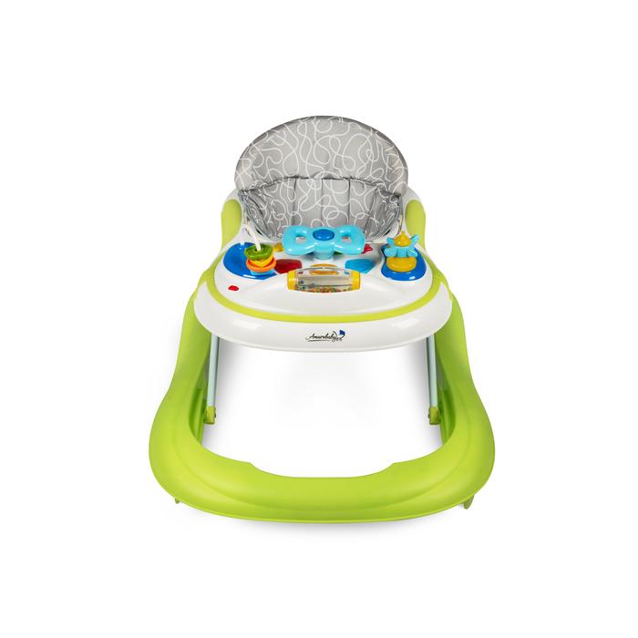 Ходунки детские с электронной игровой панелью Amarobaby Strolling Baby, цвет зеленый
