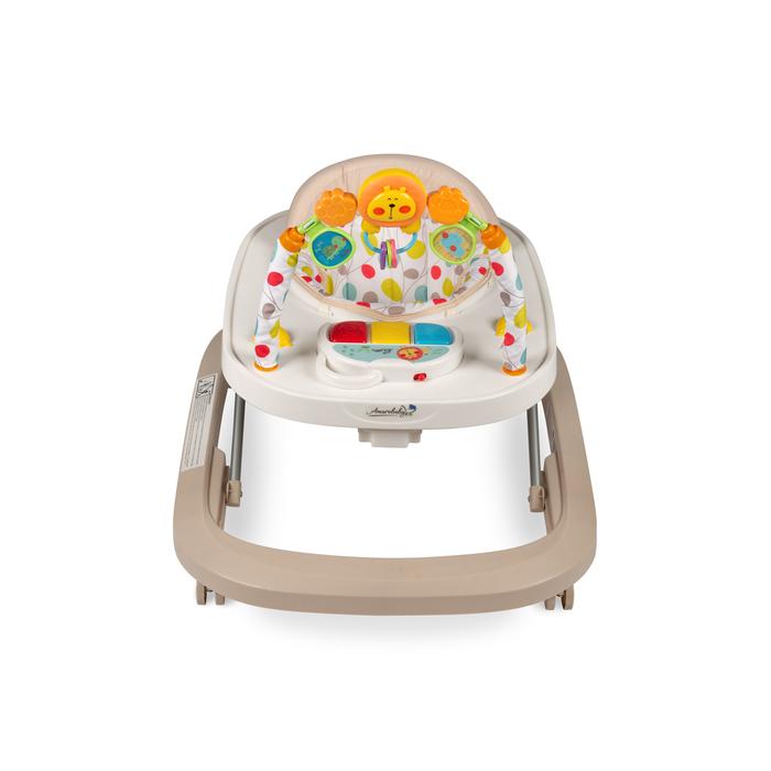 Ходунки детские с электронной игровой панелью Amarobaby Walking Baby, цвет бежевый