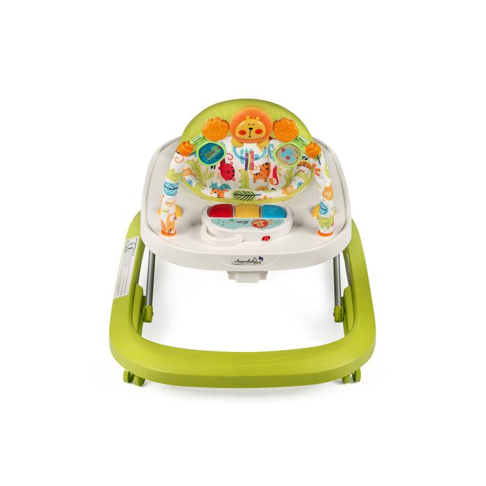 Ходунки детские с электронной игровой панелью Amarobaby Walking Baby, цвет зеленый