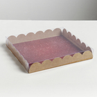 Коробка для кондитерских изделий с PVC крышкой «С Новым годом», 21 × 21 × 3 см