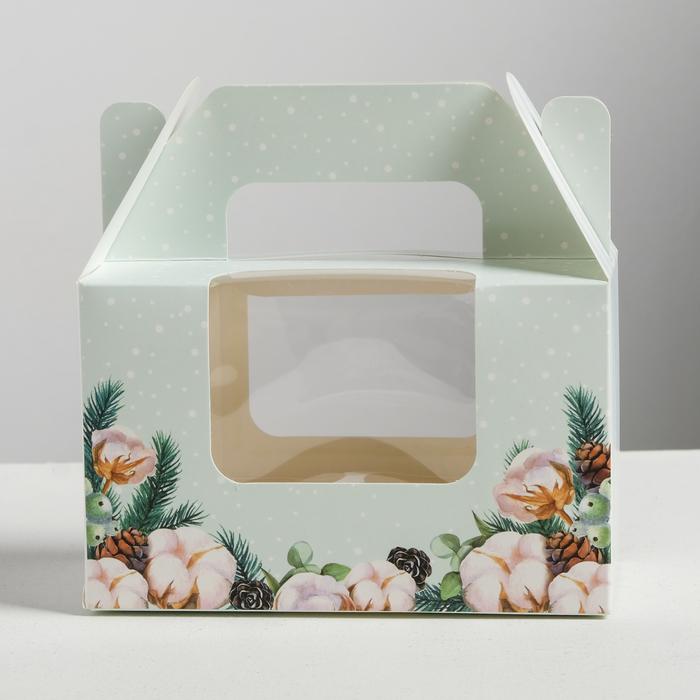 Коробочка для кексов Best wishes, 16 × 10 × 8 см
