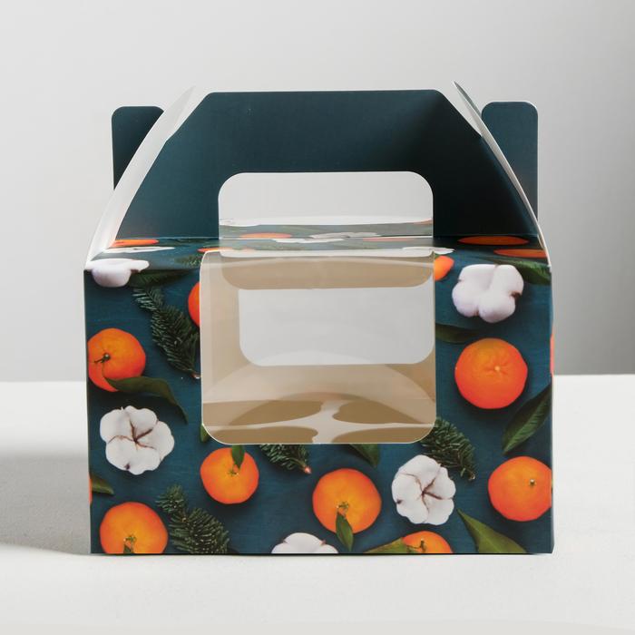 Коробочка для кексов «Счастья», 16 × 16 × 10 см