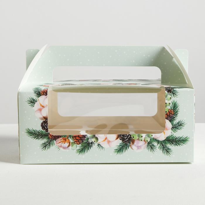 Коробочка для кексов With love, 24 × 10 × 16 см
