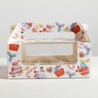 Коробочка для кексов «Сладкой зимы», 24 × 10 × 16 см